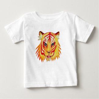 Camiseta Para Bebê Desenho fino do tigre do t-shirt do jérsei do bebê