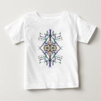 Camiseta Para Bebê Desenho geométrico no fundo branco