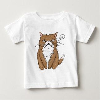 Camiseta Para Bebê Desenho mal-humorado engraçado do gato de Meh
