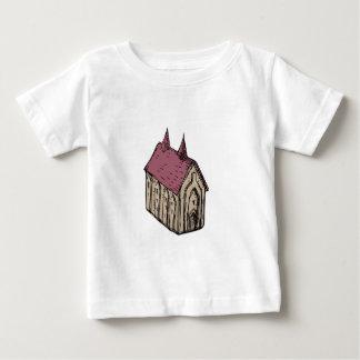 Camiseta Para Bebê Desenho medieval da igreja