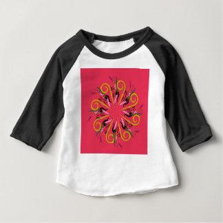 Camiseta Para Bebê Desenho original da mandala art. do ethno de