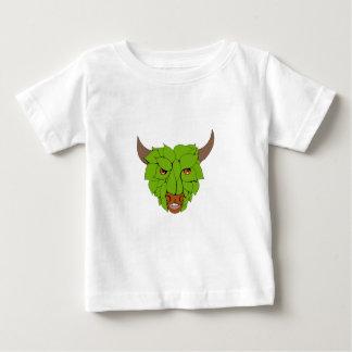 Camiseta Para Bebê Desenho principal verde de Bull