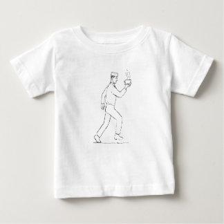 Camiseta Para Bebê Desenho Running do café do serviço do garçom retro
