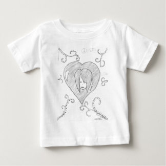 Camiseta Para Bebê Desenho vivo do amor da paz dos anjos