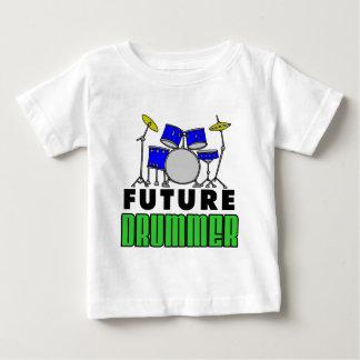 Camiseta Para Bebê Desenhos animados ajustados do cilindro azul