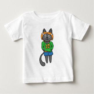 Camiseta Para Bebê Desenhos animados bonitos do gato na moda
