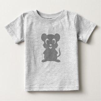 Camiseta Para Bebê Desenhos animados cinzentos bonitos do rato