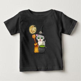 Camiseta Para Bebê Desenhos animados cinzentos do Dia das Bruxas do