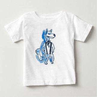 Camiseta Para Bebê desenhos animados consideráveis engraçados do lobo