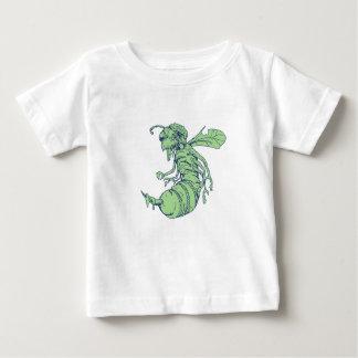 Camiseta Para Bebê Desenhos animados da abelha do zombi