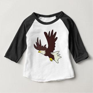 Camiseta Para Bebê Desenhos animados da águia americana
