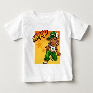 Camiseta Para Bebê desenhos animados da laranja do verde da menina do