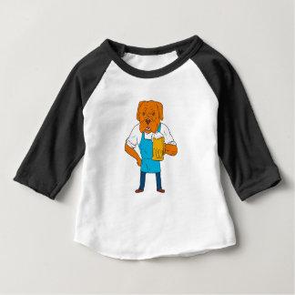 Camiseta Para Bebê Desenhos animados da mascote da caneca do