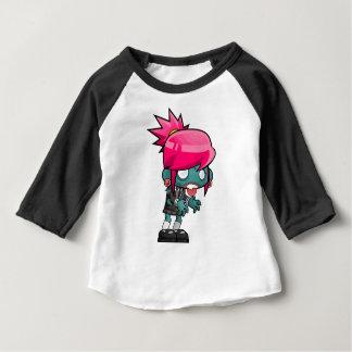 Camiseta Para Bebê Desenhos animados da menina do zombi