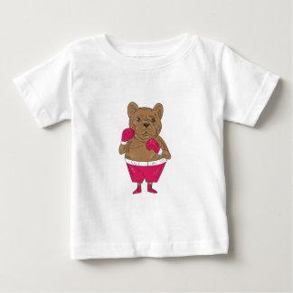 Camiseta Para Bebê Desenhos animados da posição do encaixotamento do