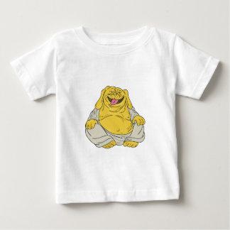 Camiseta Para Bebê Desenhos animados de assento de riso de Buddha do