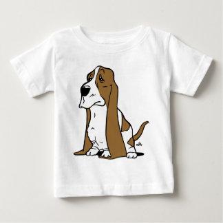 Camiseta Para Bebê Desenhos animados do cão de Basset