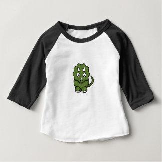 Camiseta Para Bebê desenhos animados do dinossauro verde
