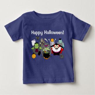 Camiseta Para Bebê Desenhos animados do divertimento de um grupo de