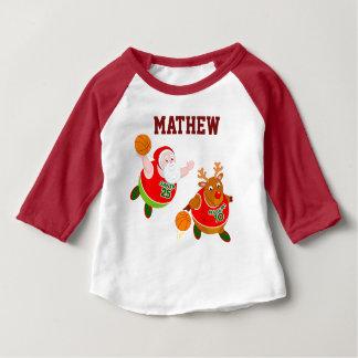 Camiseta Para Bebê Desenhos animados do divertimento do papai noel &