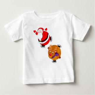 Camiseta Para Bebê Desenhos animados do divertimento do patinagem no