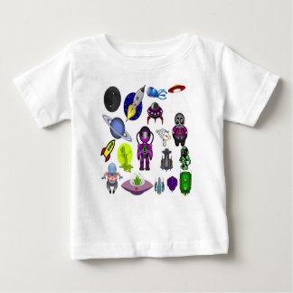 Camiseta Para Bebê Desenhos animados do espaço