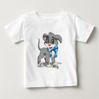 Camiseta Para Bebê Desenhos animados do filhote de cachorro do nariz