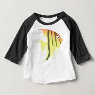 Camiseta Para Bebê Desenhos animados dos peixes do anjo