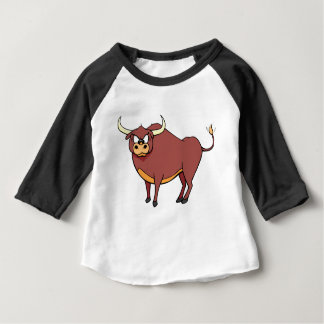 Camiseta Para Bebê Desenhos animados irritados de Bull