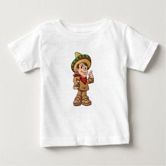 Camiseta Para Bebê desenhos animados mexicanos do miúdo