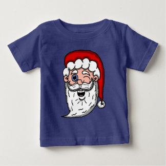 Camiseta Para Bebê Desenhos animados que pisc a cabeça do papai noel