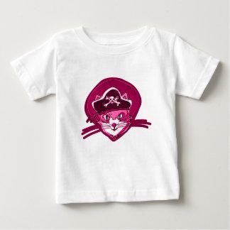Camiseta Para Bebê desenhos animados roxos do matiz do gatinho doce