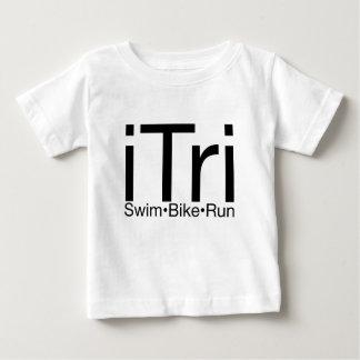 Camiseta Para Bebê Desgaste do Triathlon