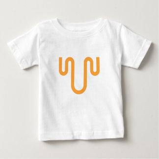 Camiseta Para Bebê Design alaranjado do gotejamento