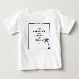 Camiseta Para Bebê Design aposentado engraçado da aposentadoria para