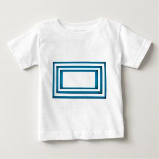 Camiseta Para Bebê Design azul da piscina de Santorini