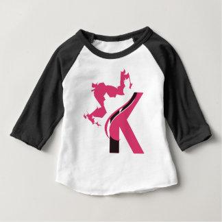 Camiseta Para Bebê Design BMI do logotipo da coroa K