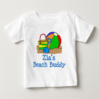 Camiseta Para Bebê Design bonito do amigo da praia de Zia