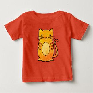 Camiseta Para Bebê Design bonito do gato