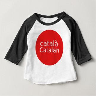 Camiseta Para Bebê Design Catalan da língua