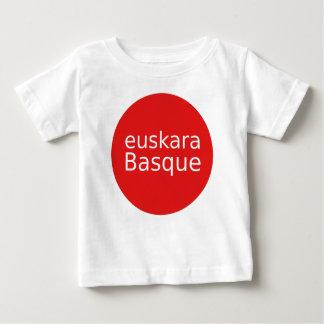 Camiseta Para Bebê Design da língua Basque