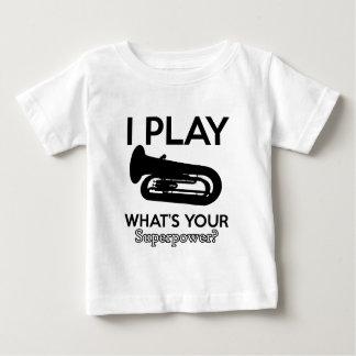 Camiseta Para Bebê design da tuba