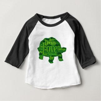 Camiseta Para Bebê Design das crianças da tartaruga