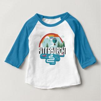 Camiseta Para Bebê Design de Pittsburgh, arquitectura da cidade de