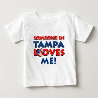 Camiseta Para Bebê Design de TAMPA EUA