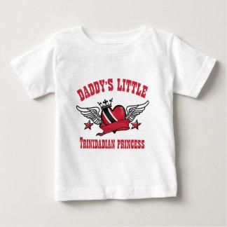 Camiseta Para Bebê design de Trindade e Tobago da princesa