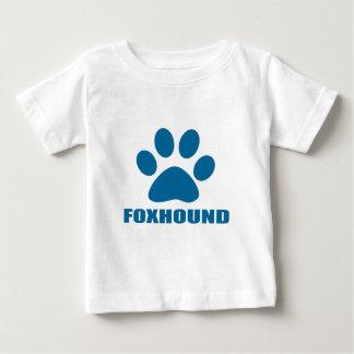 CAMISETA PARA BEBÊ DESIGN DO CÃO DO FOXHOUND
