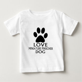 CAMISETA PARA BEBÊ DESIGN DO CÃO DO PINSCHER DIMINUTO DO AMOR