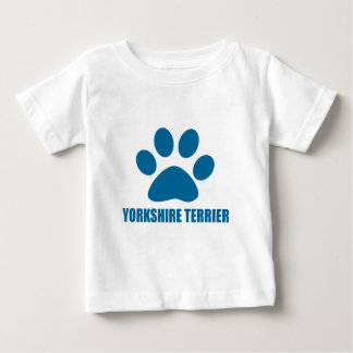 CAMISETA PARA BEBÊ DESIGN DO CÃO DO YORKSHIRE TERRIER