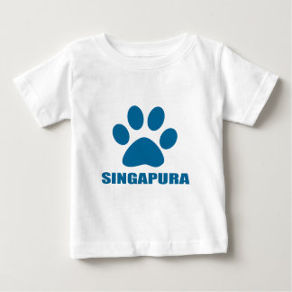 CAMISETA PARA BEBÊ DESIGN DO CAT DE SINGAPURA